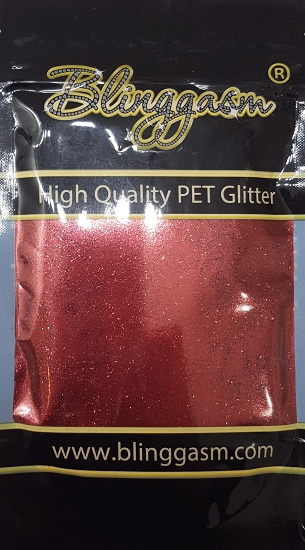 Metallic Solvent Resistant Blinggasm Polyester Glitter 3.5 oz By Weight .008 Or .015 Choose Size From Menu #17 B0304A MAROON